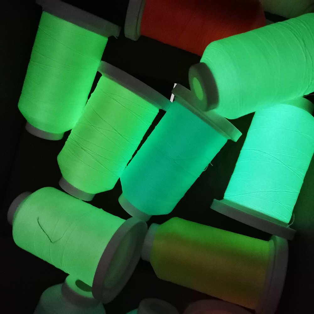 Sanbest Luminoso Filo da Ricamo Glow in The Dark 800 Metri 150D/2 Poliestere Cucito Fai da Te a Mano a Punto Croce Filo TH00057