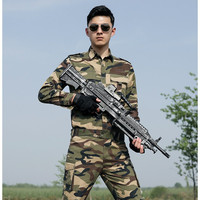 4XL Wholesale Spring Green Military Shirts Pants Men Us Army Military Uniform Work Clothes Cotton Sets Male Tactical CS Clothing