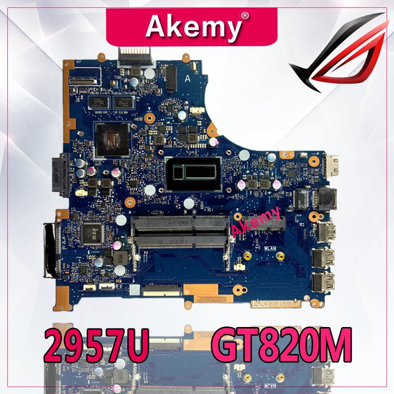 Akemy PU551LD Laptop Motherboard For ASUS PRO551L PU551LD PU551LA PU551L P551L Mainboard Test Ok 2957U REV2.0 GT820M