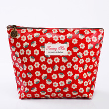 2017 Women Make Up Bags Printing Flower Zipper Cosmetic Cases Girls Clutch Bag Lady Pouch Storage Item Organizer Waterproof New