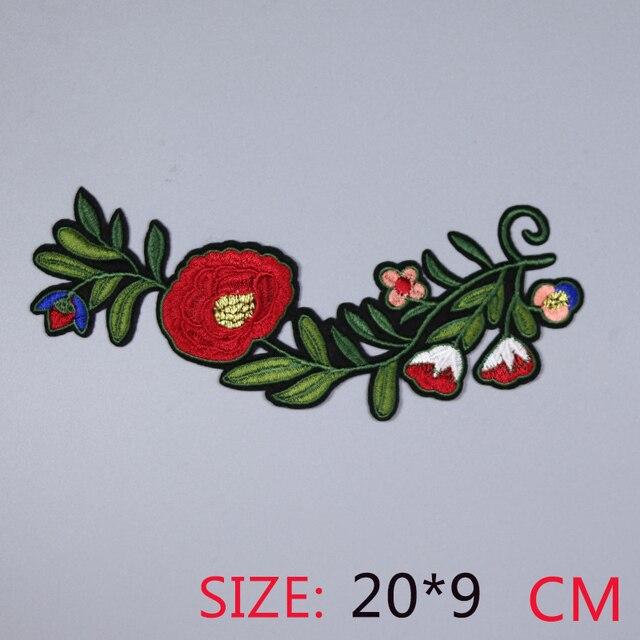 Лидер продаж, 1 шт. с красным кружевом правой цветы Красивые Утюг на вышитые патч для ткань мультфильм значок одежды Аппликации поделки аксессуар