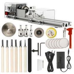 OPHIR Mini Lathe Machine Tool DIY Woodworking Wood lathe Milling machine Grinding Polishing Beads Drill Rotary Tool Set KD020W