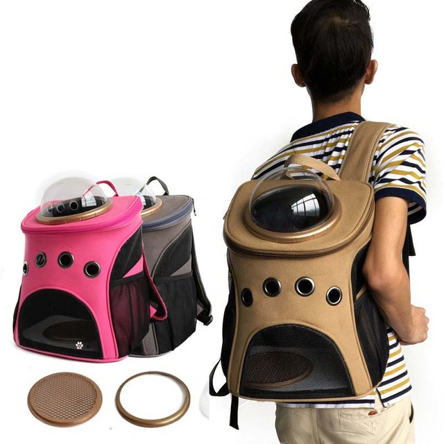 Space Capsule Astronaut Pet Cat Carrier Backpack Bubble Window for Kitty  Puppy Small Dog Outdoor Breathable Travel Bag Case Cave fd37824d34
