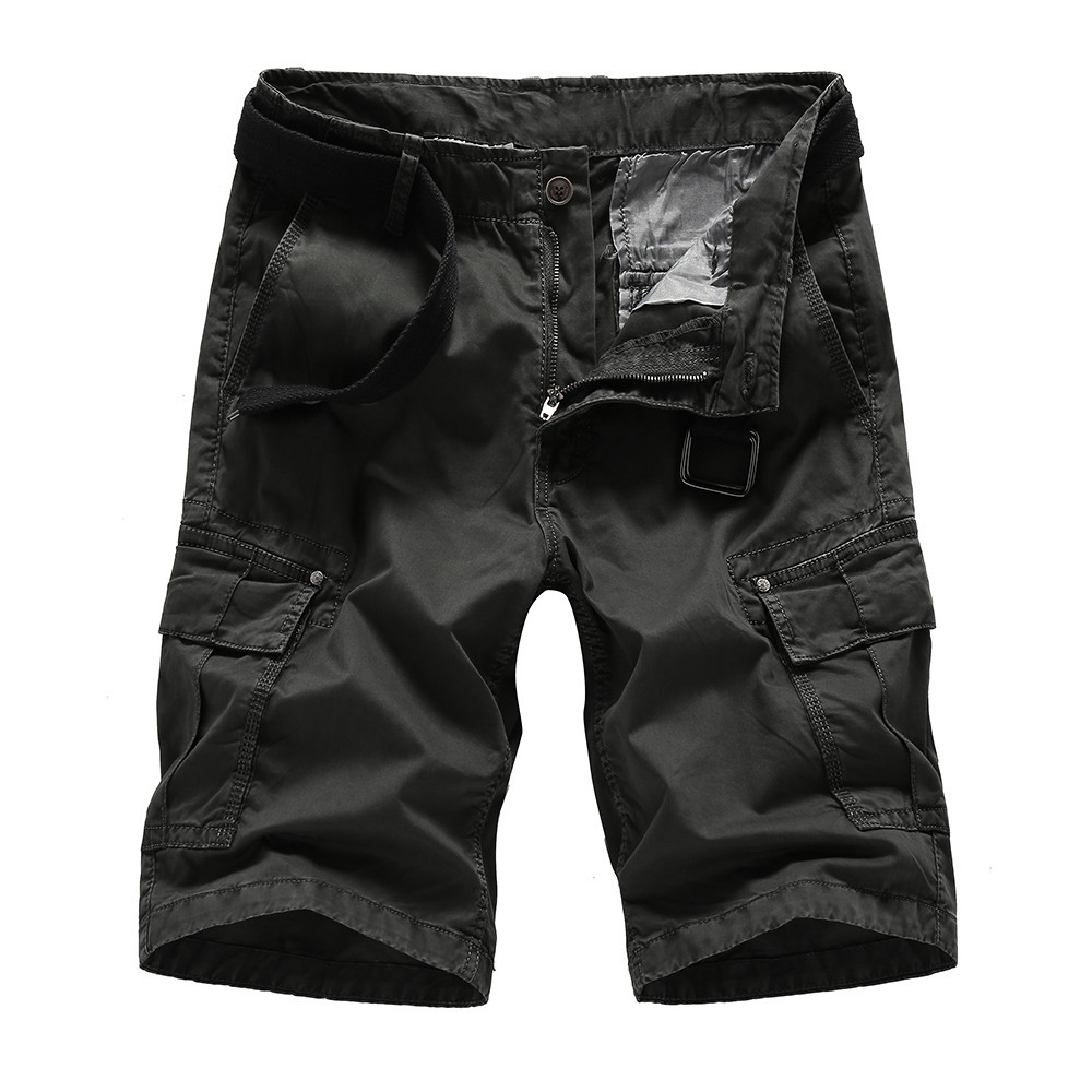 FGKKS 2018 Mens Military Cargo Shorts Summer Cotton Shorts Men Loose Multi-Pocket Shorts Homme Casual Bermuda Trouser Men Shorts ...