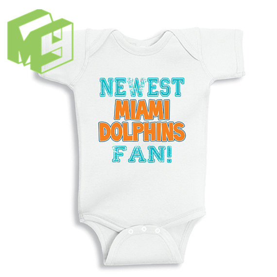ece62a7e Newest Miami Dolphins Fan sleepsuit onesie 100%Cotton Onesie for 0 ...