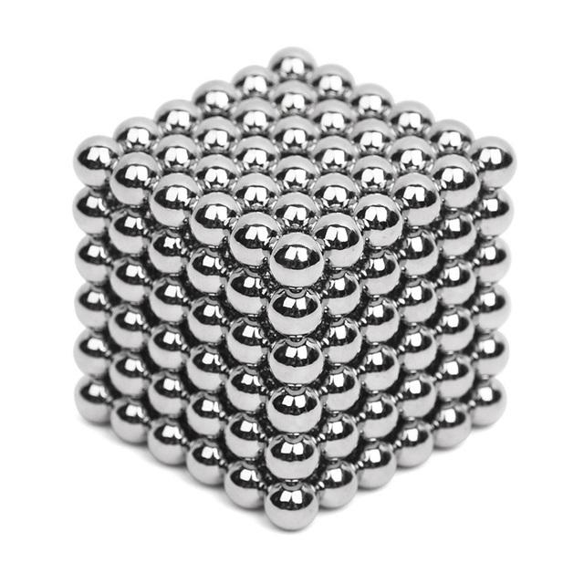 216 unids 5mm Plata Neo Neodimio Bolas Magnéticas Bolas Magnéticas Del Cubo Mágico Rompecabezas NeoKub de perlas magnéticas sin caja de metal