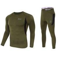 Зимняя одежда высшего качества новое термобелье мужские комплекты нижнего белья компрессионные флисовые свитшоты быстросохнущие термо Ни...