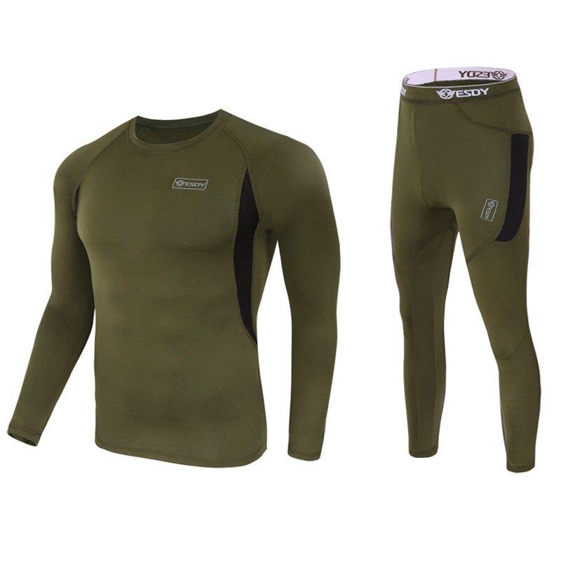 Roupa íntima térmica masculina, conjunto de roupa íntima térmica nova de inverno de lã de compressão, secagem rápida, roupa íntima para homens
