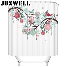 13pcs set Polyester Waterproof Fabric Shower Curtains 3D printing home products  Bathroom shower curtain set with hooks
