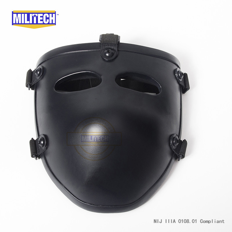 Image 5 - MILITECH Ballistic Mask Bullet proof Visor NIJ level IIIA 3A Aramid Bulletproof Tactical Mask NIJ Rated Ballistic Face Cover-in Safety Helmet from Security & Protection