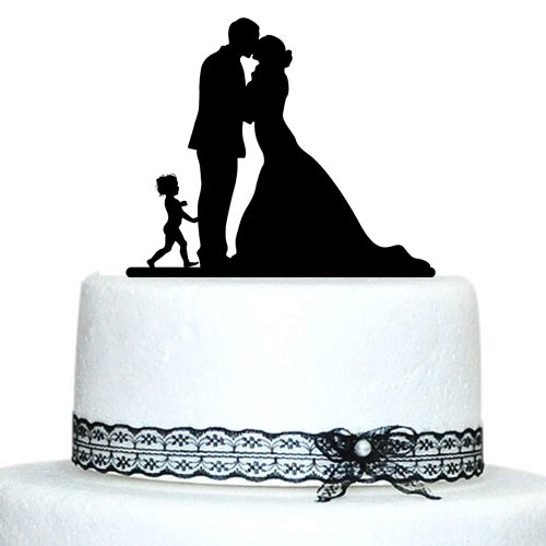 Customized Wedding Cake Topper Silhouette Groom And Bride -7784