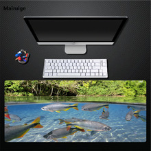 Mairuige Clear Riverside Fish Mouse Pad Large Size Thickening Non-fading Rubber Mat, Table Mat, Game Accessories Durable Mat