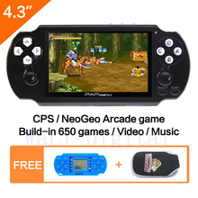 64Bit Handheld Game Console 4.3»  Video Game Console  Support Built-in 631 CPS/NEOGEO/GBA/SFC/MD/FC/GBC/SMS/GG Games Mp5 Player