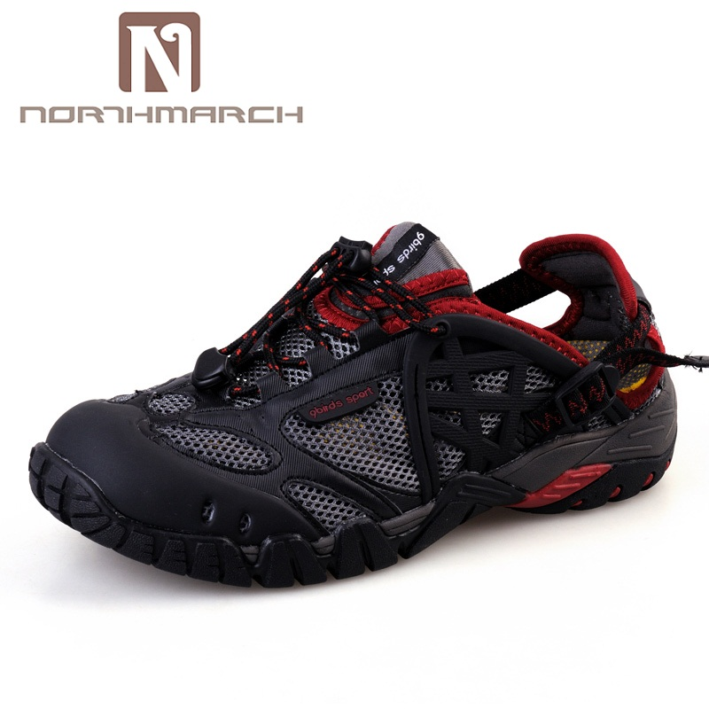 NORTHMARCH Man Shoes Summer 2018 Sandals Shoes Men Couples Casual Beach Breathable Mesh Light Lace-Up Outdoor Shoes Sandals