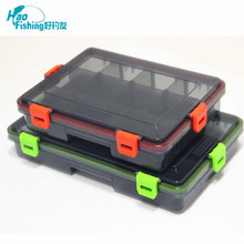 Fishing Tackle Box 23*18*5cm / 28*18*5cm Multifunctional High Strength Plastic Lure Bait Hooks multi-Compartments