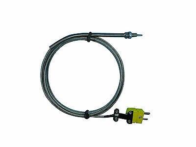 EGT K Tipo di Termocoppia Sonda con M5 Thread, 3 m Cavo e ConnettoriEGT K Tipo di Termocoppia Sonda con M5 Thread, 3 m Cavo e Connettori
