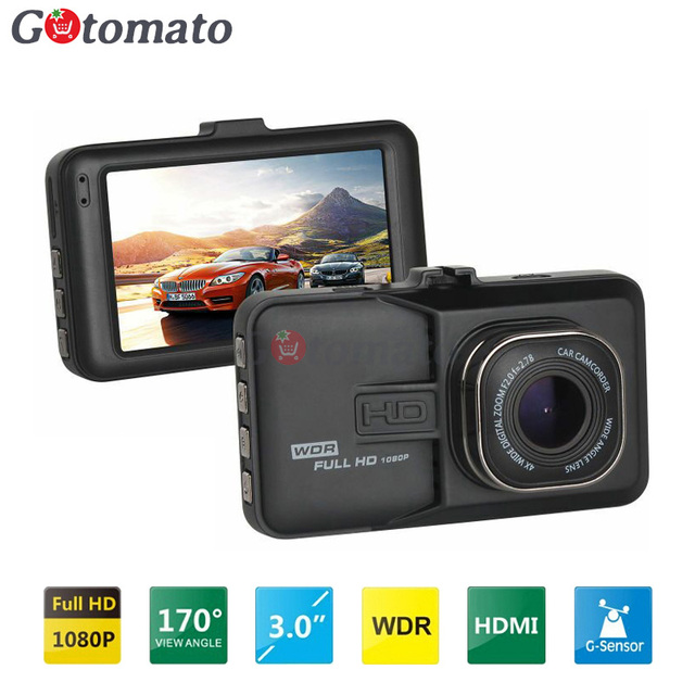 Gotomato Novatek NTK96223 Chip FHD 1080P Car Camera Video Recorder WDR G-Sensor HDMI DashCam Video Recorder 170 Degree Car DVR