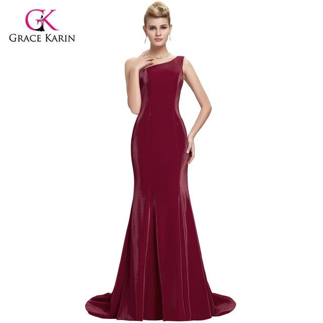 Grace Karin Elegant Wine Red Mermaid Evening Dresses 2018 New ...