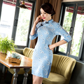 Free Shipping Half Sleeve Qipao Traditional Chinese Dress Women's Traditional Clothing Floral Cheongsam China Qipao Dresses