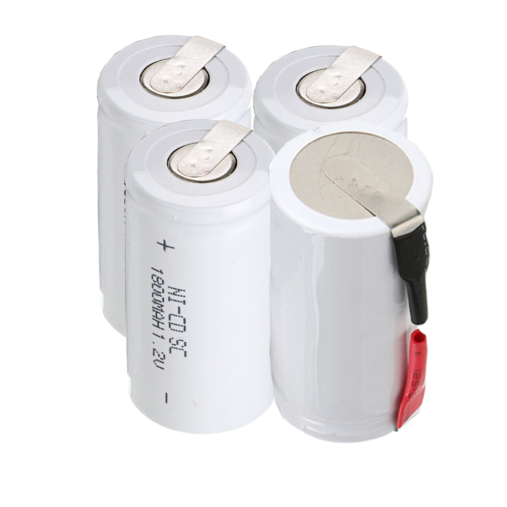 4 pcs SC 1800mah 1.2v battery NICD rechargeable batteries for emergency light toy equipment power for electric screwdriver