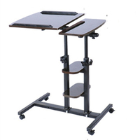 Yu Furniture Notebook Comter Desk Bedside Table Desk Can Be Folded 3 Layer With Automatic Lock