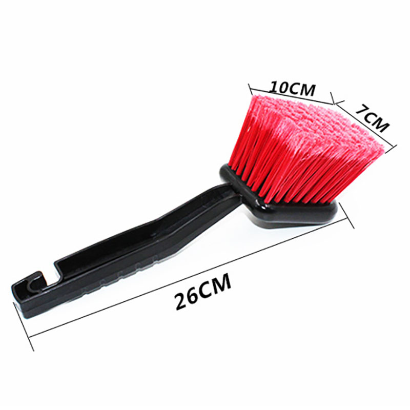 Image 2 - 1pc Car Wash Wheel Brush Car Cleaning Tool Detailing Red Super Hard Brush Car Care Products 2019 Hot Sale-in Sponges, Cloths & Brushes from Automobiles & Motorcycles