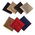 Los hombres de Color Sólido Pocket Square Pañuelo de Algodón Pañuelo de Boda Borde Enrollado BWTYX0160