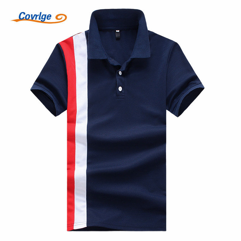 Covrlge 2018 High Quality Tops&Tees Men's   Polo   Shirts Business Fashion Slim Fit Style Summer Short Sleeve   Polo   Shirt Men MTP064