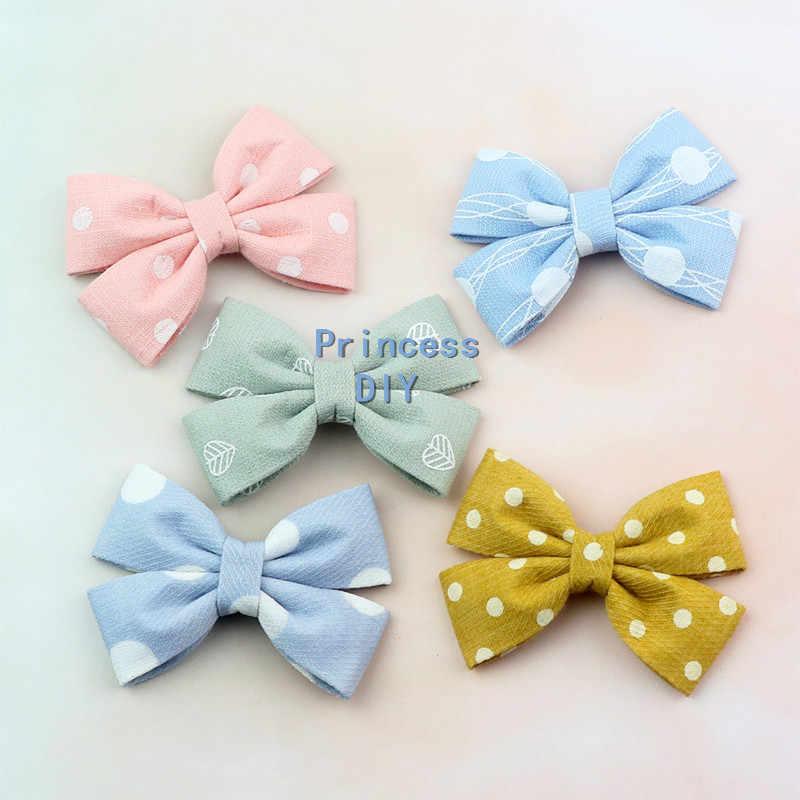 5 M/lot 10 25 40 Mm Pink Biru Kuning Polka Dot Pita Daun Bunga Dicetak Kain Lapisan DIY Rambut Busur dasi Anjing Kerah Aksesori