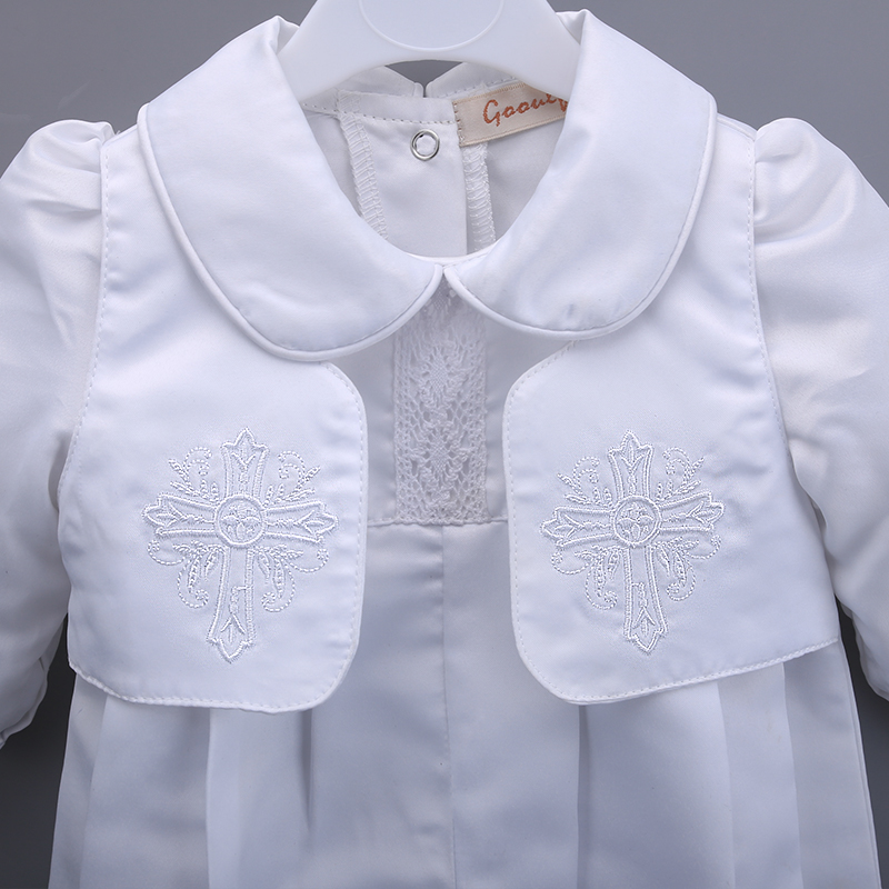 51ed0f55ca7f0 Gooulfi bébé barboteuses baptême nouveau né bébé vêtements ensemble baptême  blanc nouveau né bébé vêtements Gentleman bébé garçon barboteuse dans ...