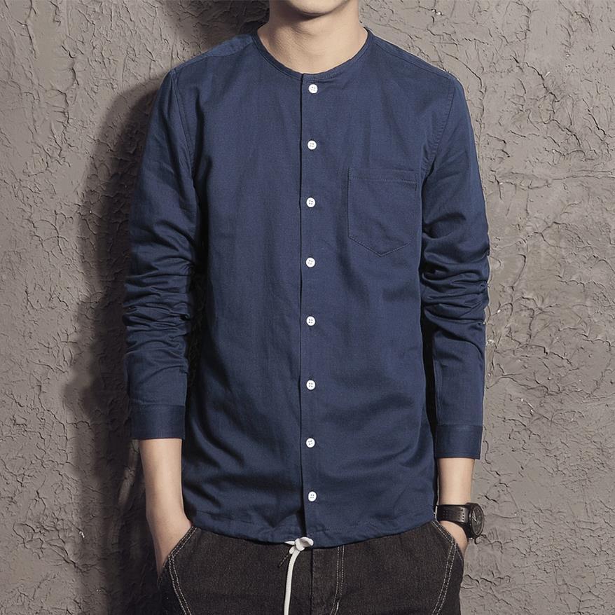 Online Get Cheap Vintage Collarless Shirt -Aliexpress.com ...