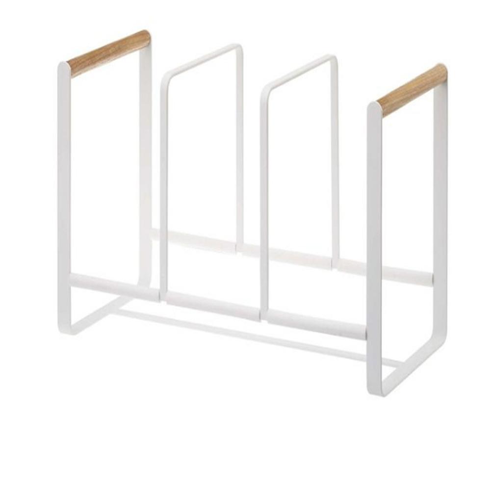 где купить Three Compartments Dish Bowl Rack Kitchen Kitchenware Cabinet Storage Shelf Kitchen Pot Lid Shelf Pot Cover Holder Dispenser дешево
