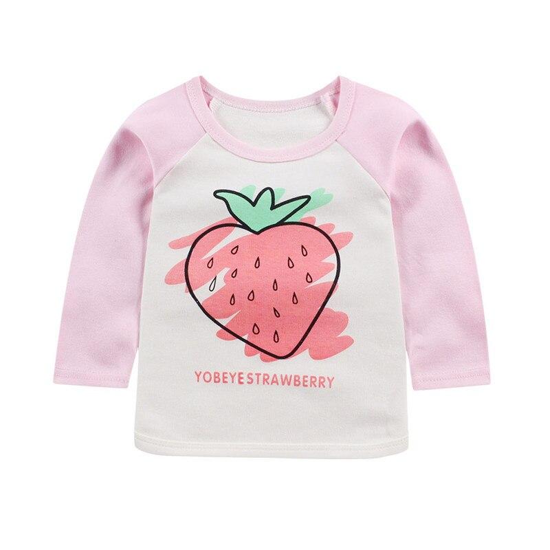 2019 frühling kinder T-shirt baumwolle jungen und mädchen druck langen ärmeln casual shirt baby männlichen baby mädchen baby t-shirt