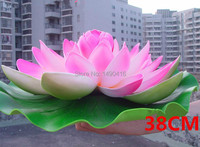 38cm=15inch Artificial Big Lotus Flowers Water Lily For Garden Wedding Decoration diy flowers for decoration