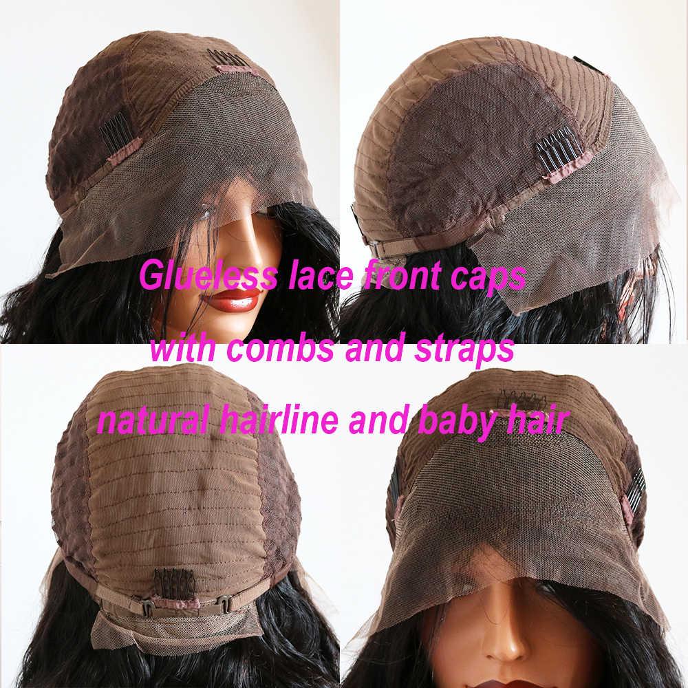 360 13X6 Lace Front Menselijk Haar Pruiken Met Pony 1B30 Ombre Straight Peruaanse Remy Haar Natuurlijke Haarlijn Fringe pruik Full Lace Pruik