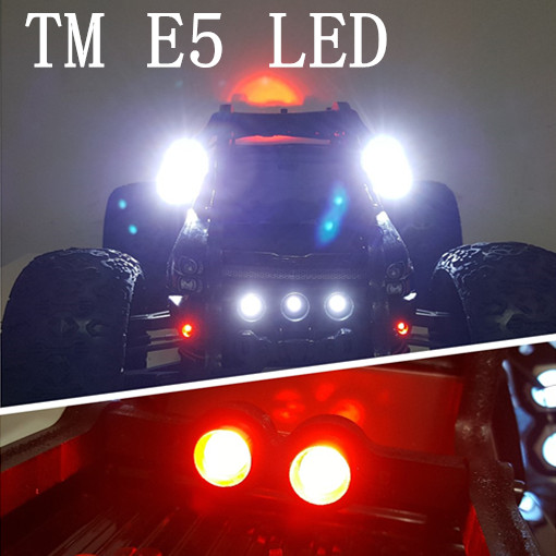4pcs side lights + 2pcs taillights led light lamp + switch for roll cage TM E5 TEAM MAGIC receiver supply power