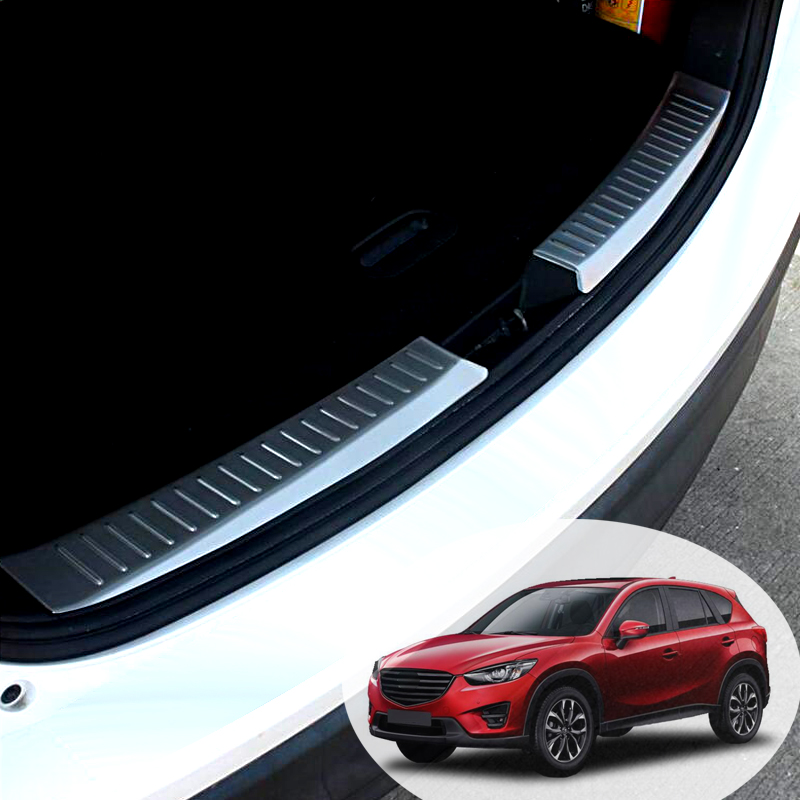 For Mazda CX-5 CX5 2017 2018 Car Rearguards Stainless Steel Rear Bumper Trunk Fender Sill Plate Protector Guard Covers