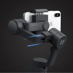 Image 3 - Funsnap Caputure 2 Smartphone 3 Axis Gimba eylem kamera Gimbal IOS android için Gopro 7 6 5 EKEN Yi Gimbal kiti ile LED mikrofon
