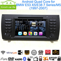 "Android Quad Core 5.0.1 GPS Navigation 7"" Car DVD Player for BMW E53 X5 97-07/E38 7 Series/M5 with Radio/Bluetooth/RDS/Canbus"