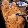 2016 mujeres lindas fundas para asientos de coche volkswagen cubierta de accesorios de coches con el volante del coche conjunto completo 1118