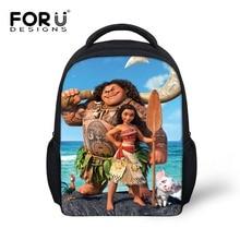 FORUDESIGNS Newest 12 Inch Schoolbag for Kids Ocean Moana and Rooster Hanhan Pencil Bag Set Cartoon School Backpack Mochila Girl