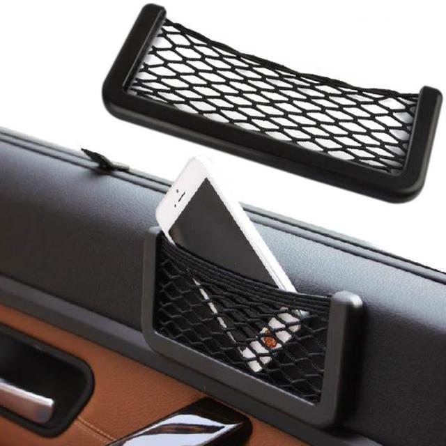 Mayitr Car Elastic Storage Net String Mesh Bag Cellphone Holder Gadget Cigarette Pocket Medium Items Designed