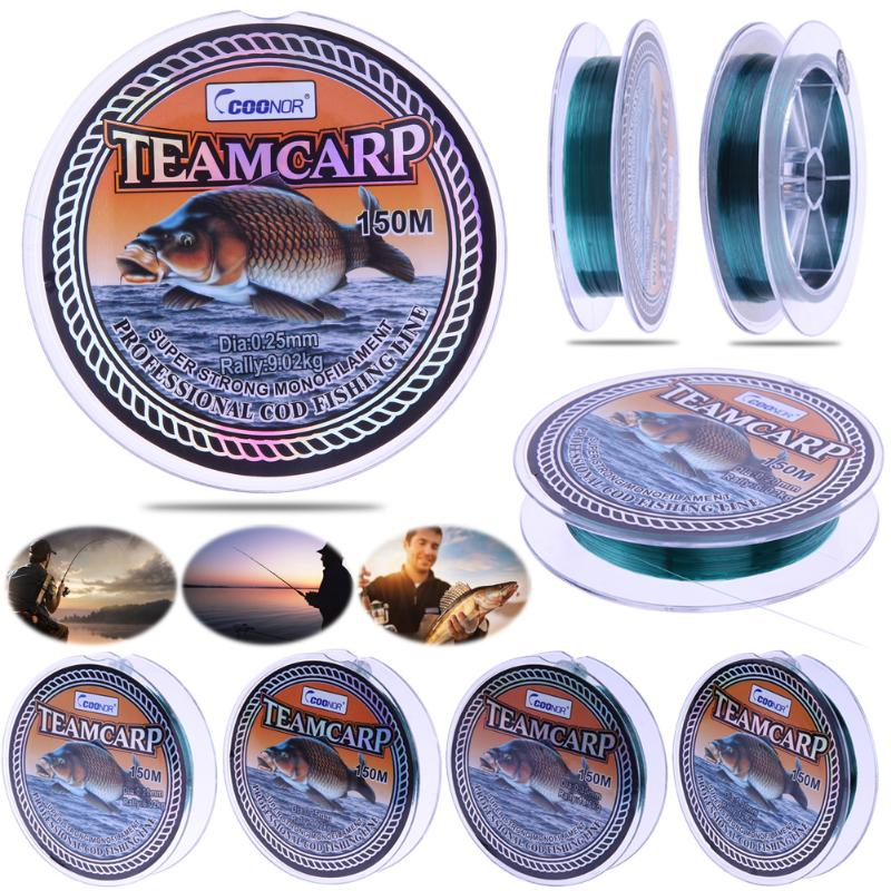 150m Monofilament Nylon Carp Fishing Line 0.2/0.25/0.3/0.35# Japanese Carp Fishing Tippet Super Strong Nylon Thread Fishing Line