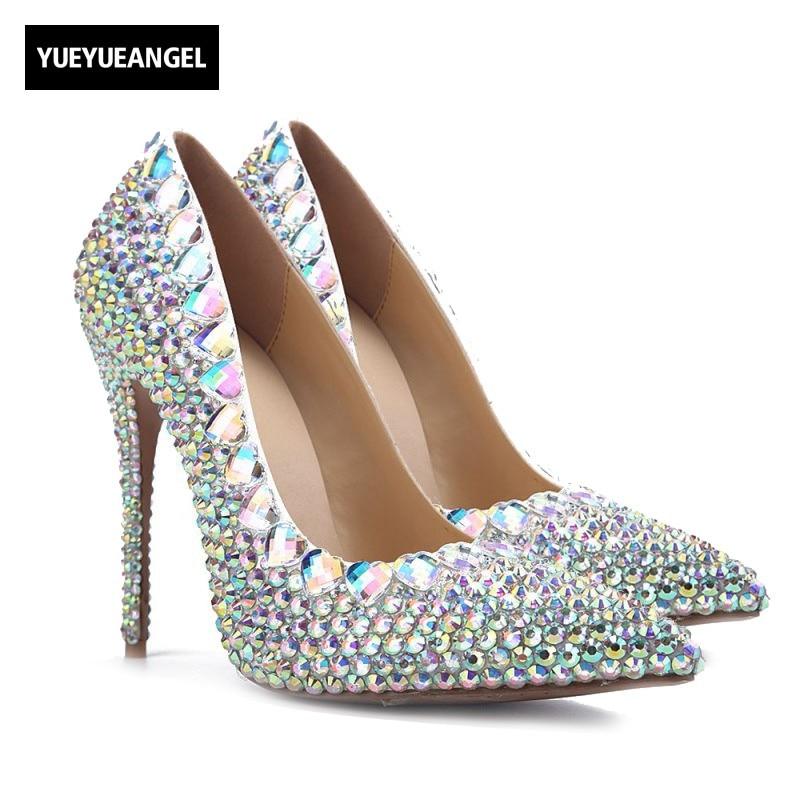 2018 Новый Для женщин Туфли под платье острый носок Слипоны женские вечерние туфли-лодочки для Для женщин свадебные туфли на высоком каблуке ... ...