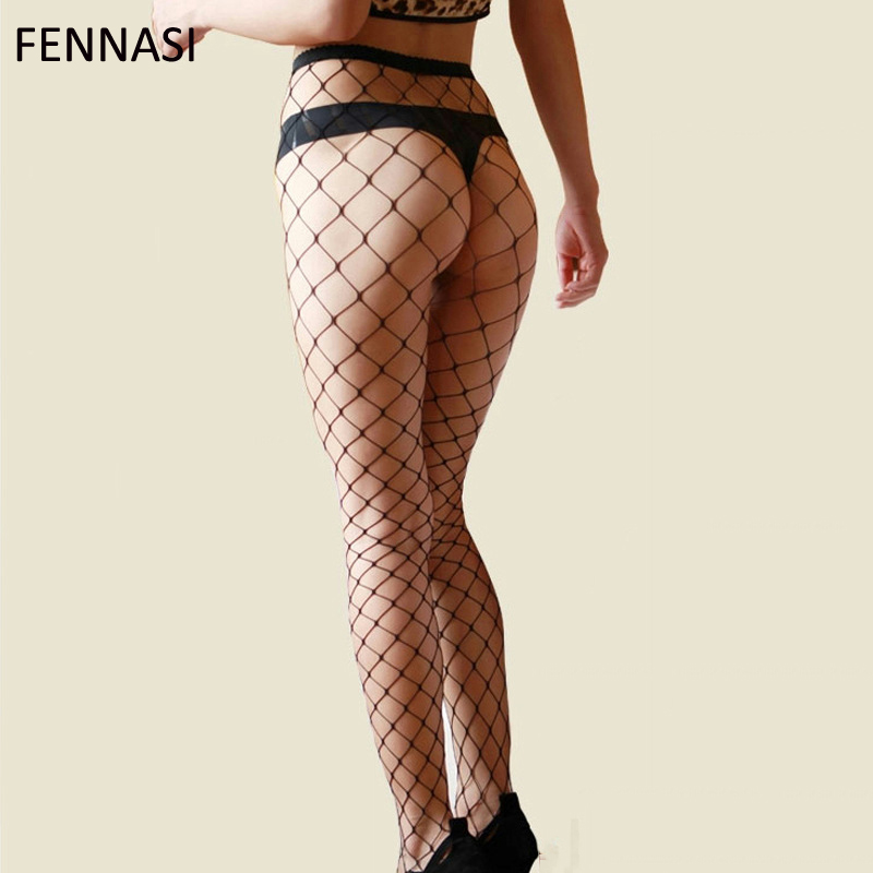 FENANSI Fishnet Women Tights Plus Size Stockings Grid Pantyhose Sexy Stocking High Quality Hollow Mesh Lady Hosiery