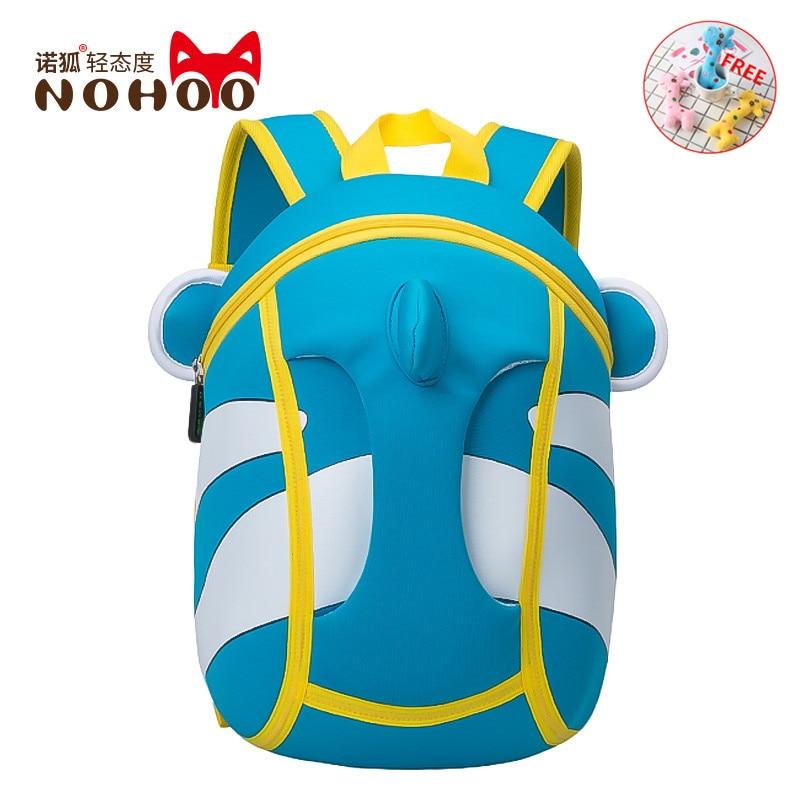 NOHOO 3D School bags for girls boys kids bags shoulder backpack groot rainbow six siege ita mini bag korean style kanken mochila