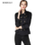 Nueva Primavera 2017 Ocasional Más El Tamaño Short Trench Coat Para Las Mujeres Sólido Estilo Británico prendas de Vestir Exteriores Femenina Capa Doble de Pecho Abrigo