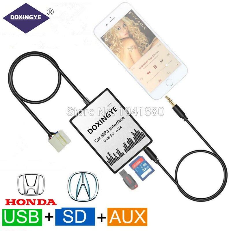DOXINGYE USB SD AUX Car MP3 Music Radio Digital CD Changer Adapte For Honda Accord Civic