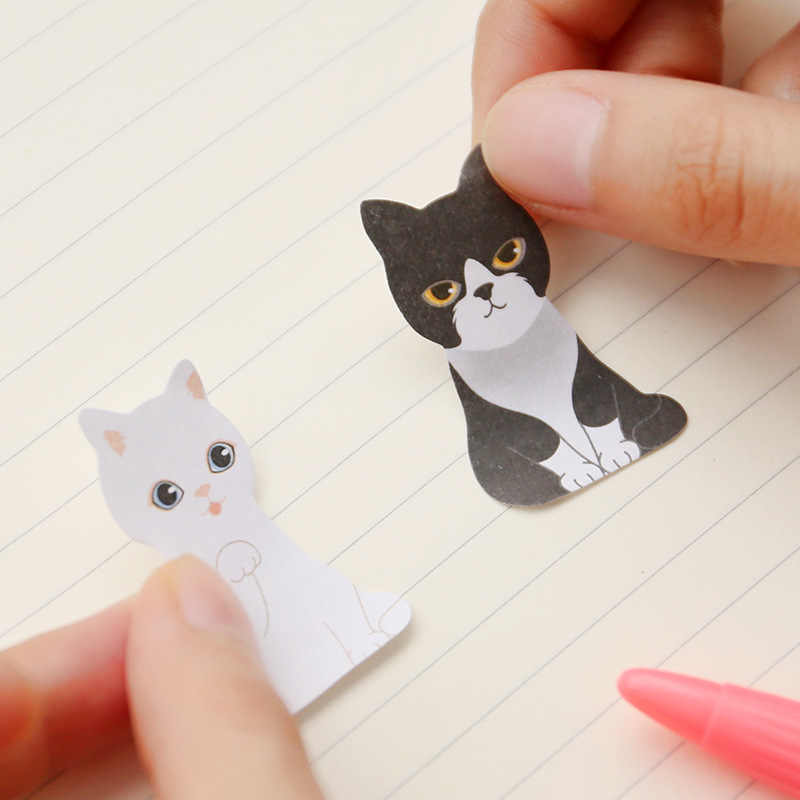 3D Kawaii chat chien boîte autocollants mignon dessin animé coréen papeterie Notes autocollantes bureau fournitures scolaires bloc-Notes Scrapbooking