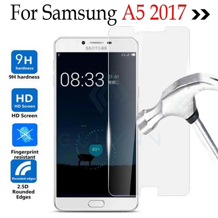 2.5D 9H Premium Tempered Glass film for Samsung A5 A3 2017 A10 A20 A30 A40 A50 A60 A20E A70 A80 A90 Galaxy Screen Screen Protector Case